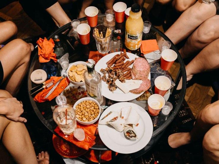 Napoje i jedzenie na panieński